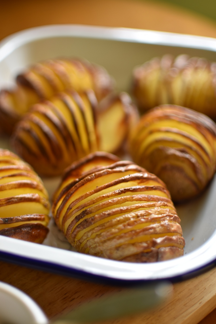 Cheese and Bacon Hasselback Potato 1