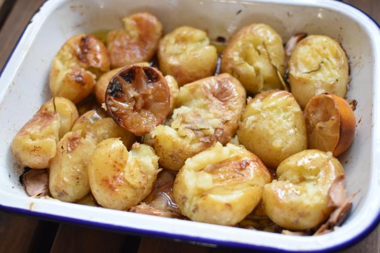 Smash Potatoes With Fork